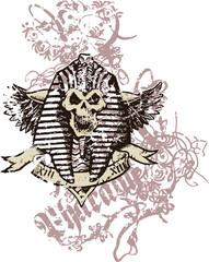 skull in pharaoh style
