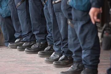 Row of Policemen