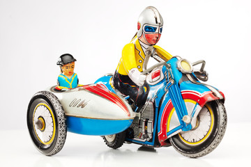 old tin toy racer