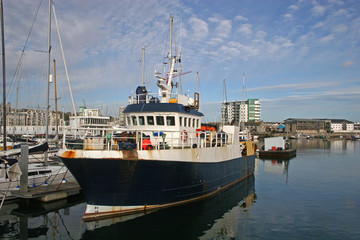 fishing boat, Plymouth harbour