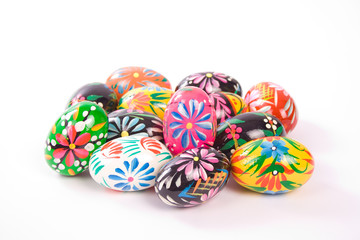 Painted Colorful Easter Eggs