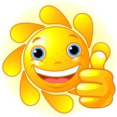 Sun Hand giving thumbs up