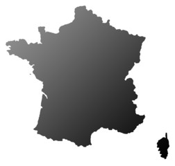 France map silhouette