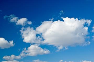 Clear blue sky panorama