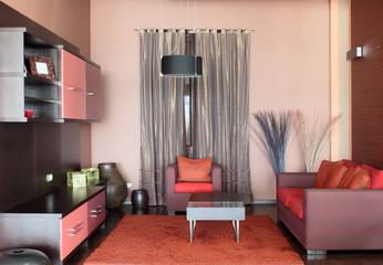 Modern, luxury and beautiful living room interior design.