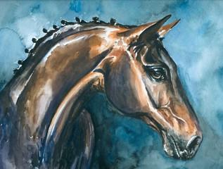 Horse,watercolor-my own art work.