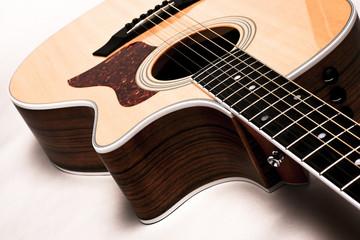 Guitar on White Backdrop