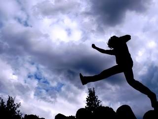 Silhouette - long-jump