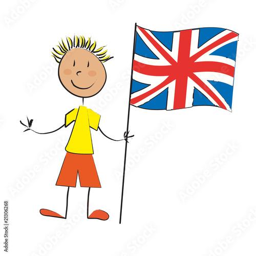 Enfant drapeau angleterre photo libre de droits sur la banque d 39 images image - Dessin de l angleterre ...