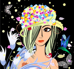 Recess Fitting Floral woman Forest Fairy