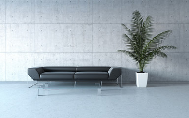 Extremely stylish minimalism interior