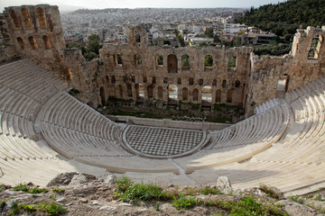 Odeon is a stone theatre, Acropolis of Athens