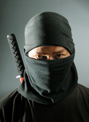 Ninja assassin portrait