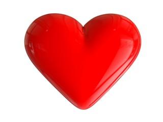 3D glossy heart