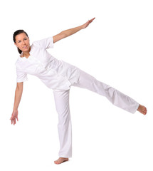 Sport woman doing yoga exercise
