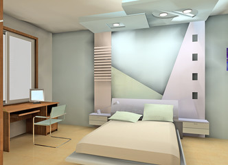 a fashion bedroom design proposal