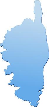 Carte de la Corse bleu (détouré)