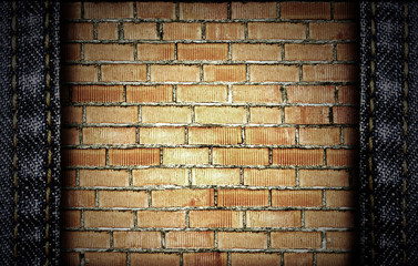 brick and jeans background