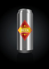 Vector illustration of a beer can