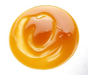 a swirl of honey drop