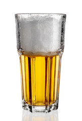 Wall Mural - Beer glass on a white background