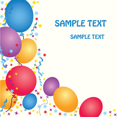 card for birthday and party