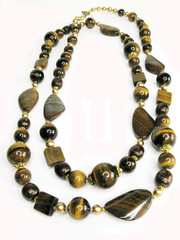 yellow and brown beads tiger eye