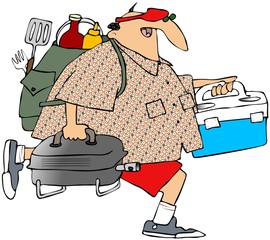 Man Headed To A Picnic
