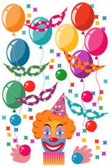 Celebration set with a clown