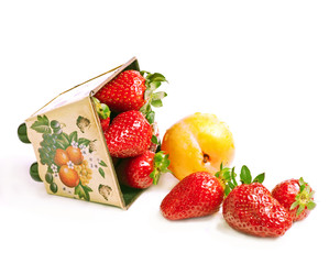 scatter strawberry