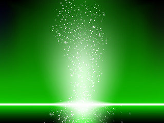 Green Stars Background.