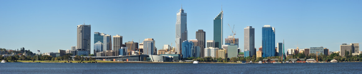 Panoramic view of Perth in Australia