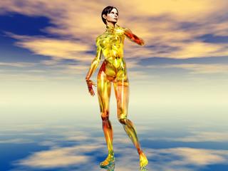 Frau in 3D