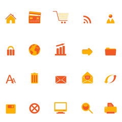 Internet, web and e-commerce icons
