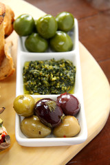 Olives And Pesto