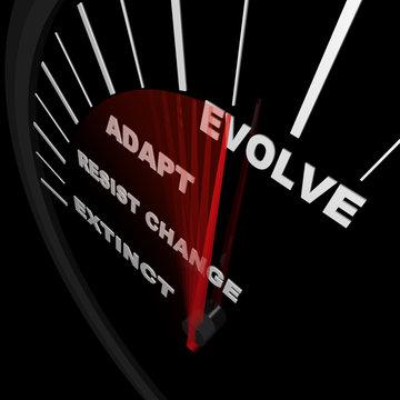 Evolve - Speedometer Tracks Progress of Change