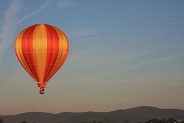 dawn ascent in hot air balloon