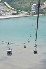 Cable Car Acoss Sea Line
