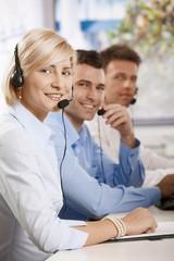 Helpdesk receicving calls