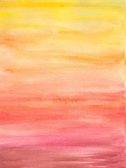Watercolor painted warm  background