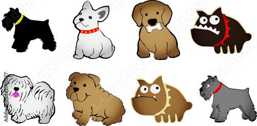 Set di animali stilizzati immagini e vettoriali royalty for Immagini di cani da colorare