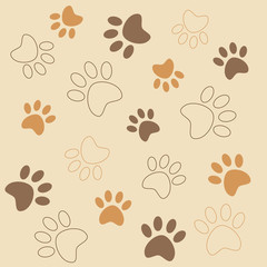 Vector background pattern with tracks