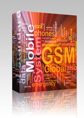 GSM word cloud glowing box package