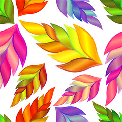 Seamless flowers vector abstract background.