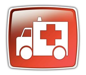 """Glossy Button """"Ambulance"""""""
