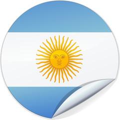 Sticker de l'Argentine (détouré)
