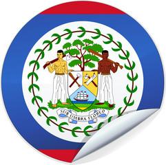 Sticker du Belize (détouré)