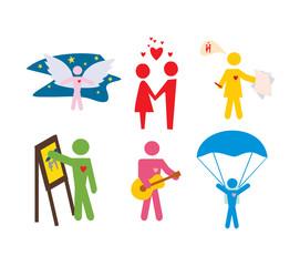 set of vector people symbols