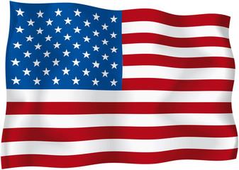 USA - American flag - Vector