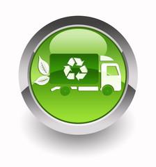 ''Eco transport'' glossy icon